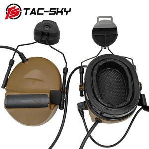 Image 4 - TAC  SKY COMTAC II Tactical Headset COMTAC II Helmet Stand Military Noise Cancelling Headphones and Tactical PTT u94ptt   CB