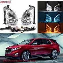 led Fog lights drl for Chevrolet Equinox 2018 2019 2020 fog light headlights daytime running light fog lamps foglights headlight