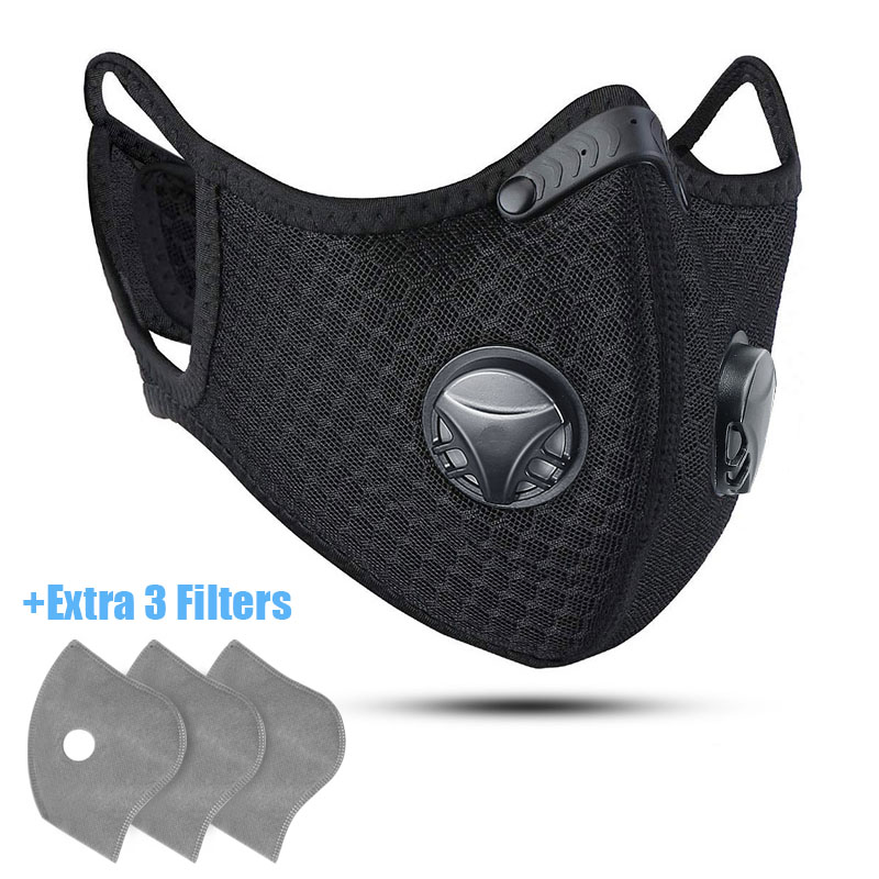 Breathable Mask With Filter Activated Carbon PM 2 5 Anti Pollution Dustproof Washable Facemask Cycling Sport Innrech Market.com