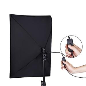 Image 5 - Kit déclairage de Softbox continu de photographie 50x70CM E27 Socket équipement de Studio Photo professionnel avec 2 pièces trépied support de lumière