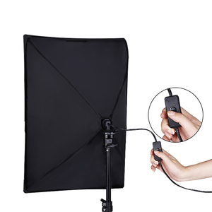 Image 5 - Photography Continuous Softbox Lighting Kit 50x70CM E27 Socket Professional Photo Studio Equipment with 2 PCS Tripod Light Stand