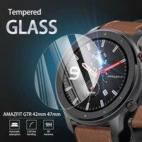 5 uds 9H templado Premium de vidrio para AMAZFIT GTR 42mm 47mm Smartwatch de película Protector de pantalla accesorios para AMAZFIT GTR reloj