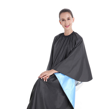 Hairdressing Waterproof Apron Cutting Salon Haircut Cape Gown Anti-static Barber Wrap 165*145cm Barber Apron Styling Tool popular salon barber hairdressing gown with snap button neck finished hair cape anti static fashion design hot sell stylist wrap