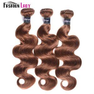 Image 3 - Mechones de moda para mujer, cabello humano indio tejido n. ° 30, cabello ondulado, 1/3/4 mechones por paquete, cabello no Remy