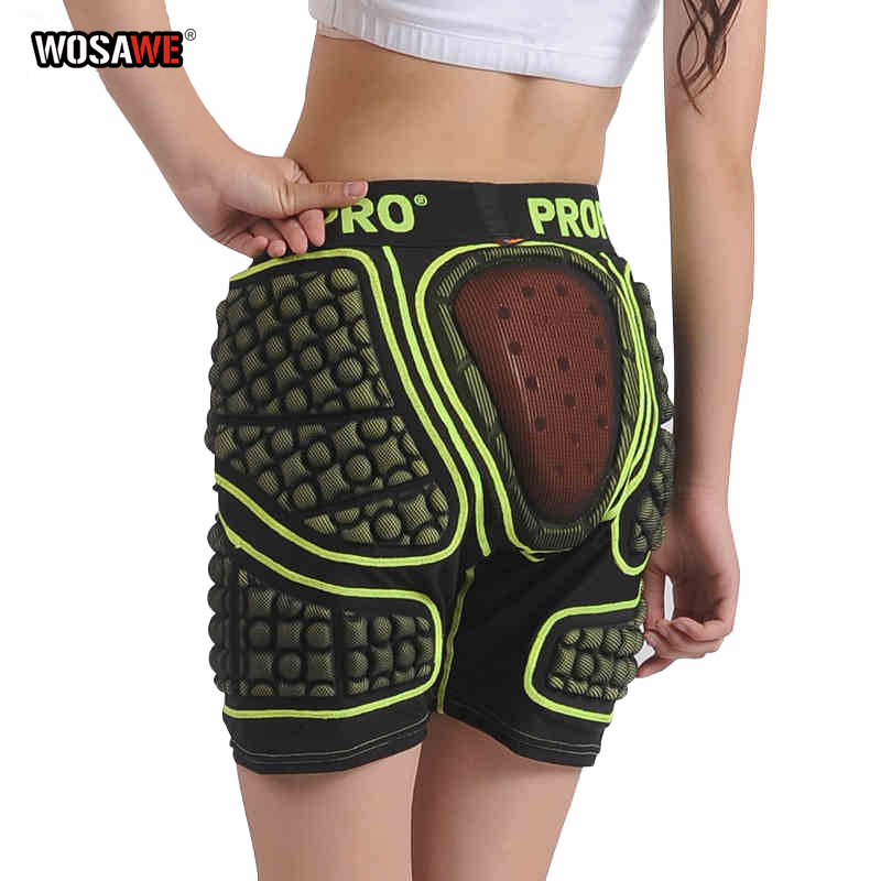 WOSEWE Motorcycle Shorts Hip Pads Protection Ski Shorts Protector Trousers Snowboard Skate Short Downhill Protection MTB Pants
