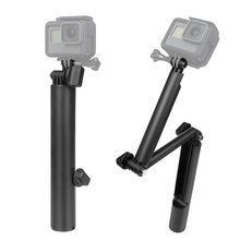 Three-way adjustment arm Tripod selfie stick or Hero Three-fold Lever Selfie Stick Mobile Phone Bending
