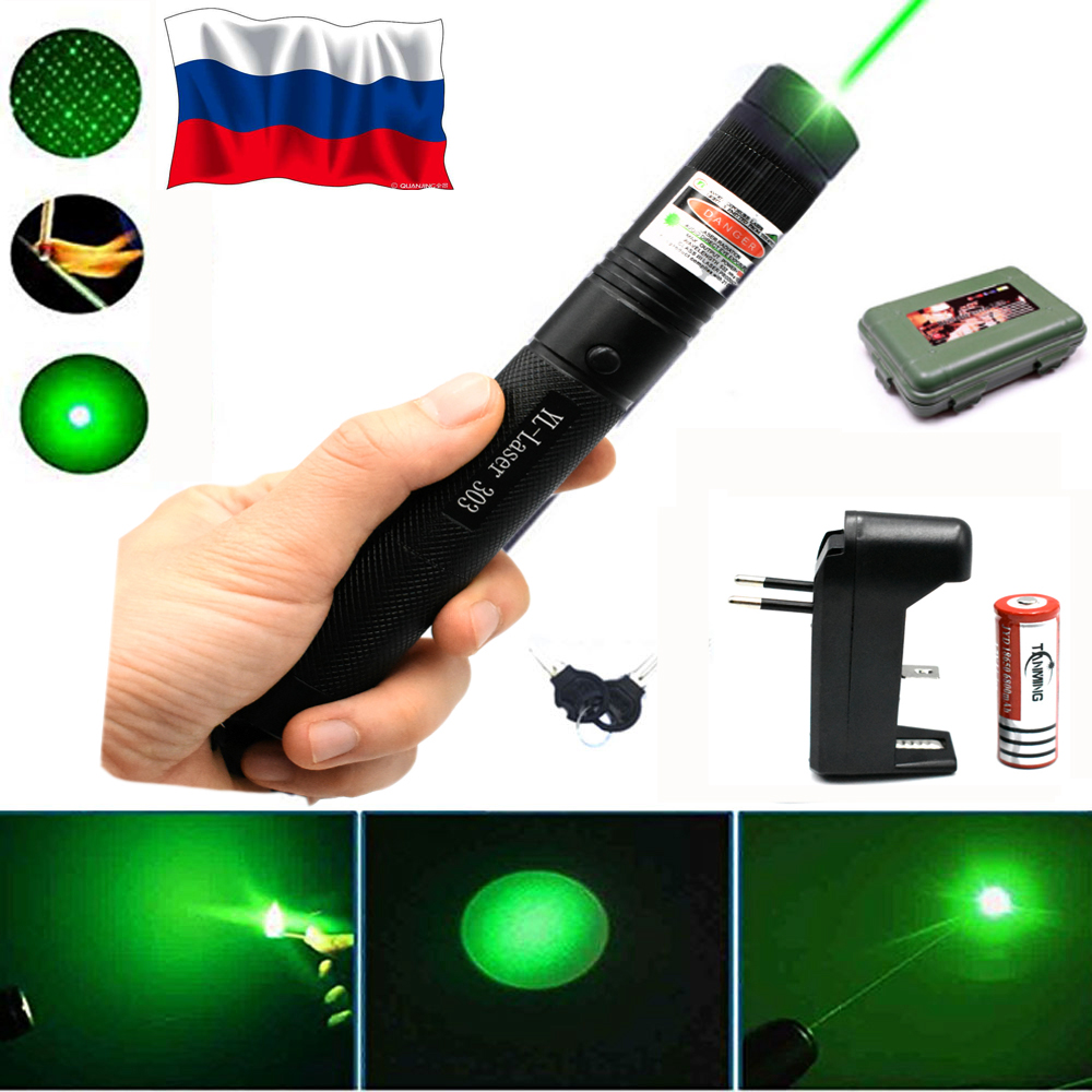 Hunting Green Laser 303 Purple Red Laser Pointer Laser Sight Hight 10000m 532nm Powerful Adjustable Focus Lazer with Burning
