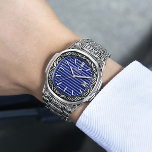Image 5 - ONOLA designer quartz watch men 2019 unique gift wristwatch waterproof fashion casual Vintage golden classic luxury watch men