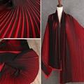 Красновато-черная плиссированная шифоновая ткань с оборками, однотонная для платьев, одежды, материалов, by the Meter