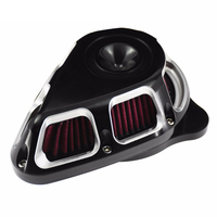 Multi Angle Air Cleaner Filter Kit Matte Chrome For Harley Sportster XL 07 20 Dyna FatBob Softail 00 20 Touring FLHX FLHR 00 20