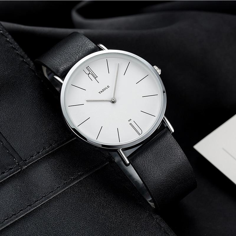 Reloj Yazole Watch Men Waterproof Ultra Thin Quartz Watch For Men Fashion Simple Black Men Watch Male Wristwatch Montre Homme