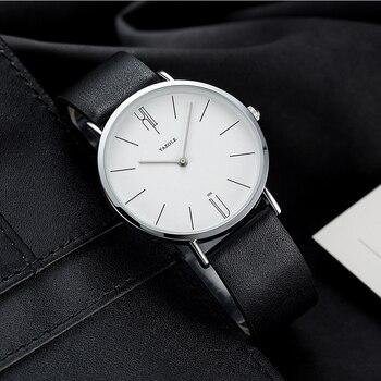 Мужские ультра тонкие кварцевые часы YAZOLE
