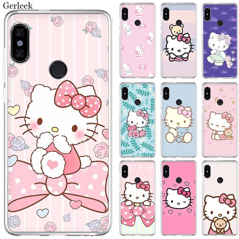 Mobile étui de téléphone pour xiaomi Redmi Note 4 4X3 5 6 7 Pro 5A Couverture Rigide Hello Kitty Cool