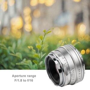 Image 5 - Pergear 25mm f1.8 ידני ראש עדשת לכל אחת סדרת עבור Fujifilm עבור Sony E הר & מיקרו 4/3 מצלמות A7 A7II A7R XT3 XT20