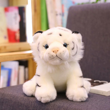 Kawaii cute tiger plush simulation white yellow soft filled doll baby pillow childrens toys 12CM/22CM