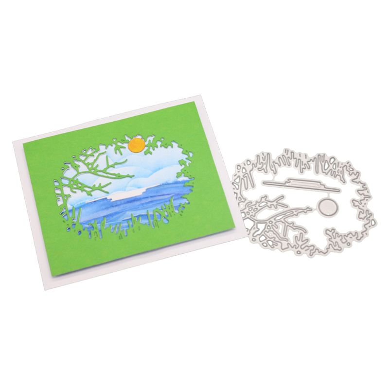 Metal Cutting die Sunset stencil for Scrapbooking and Paper Crafts Embossing diy