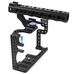 Professional Camera Cage Slr Stabilizer Protective Case Mount For Panasonic Gh3 / Gh4 With Top Handle Grip Digital Camera Phot