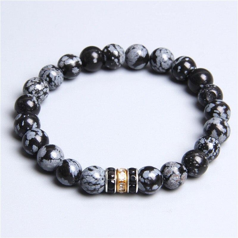 Women Natural alabaster Obsidian bloodstone Volcanic stone stone beads bracelet for ladies men femme purple gem stone bracelets