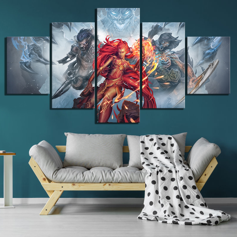 5 Piece Game Poster Shadows Awakening Pictures Artwork Canvas Paintings for Home Decor Wall Art thumbnail