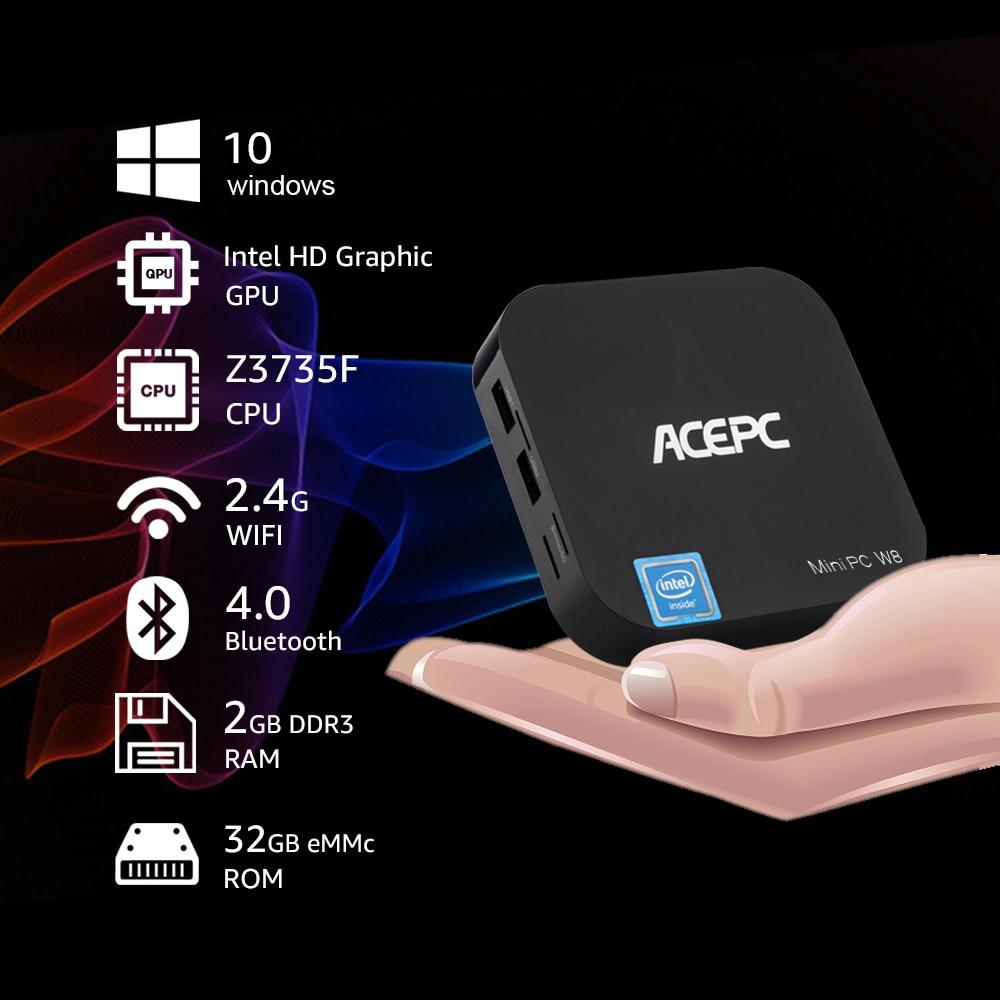 ACEPC W8 Pro Mini Pc Win10  Intel Z8350 14nm 4cores Computer Mini Desktop Intel HD Graphics 2GB/32GB 4GB/64GB BT 4.0 Mini PC