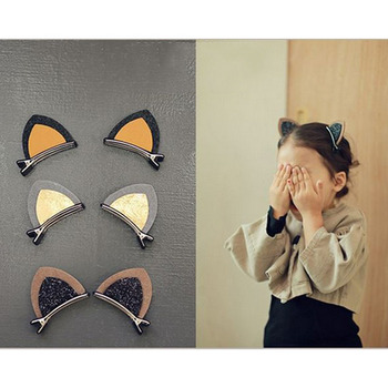 1Pcs Cat Ear Style Baby Hair Clip Hair Children Hair Infant Hairgrips Summer Style Headband baby headwear Accessories image