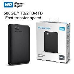 Western Digital WD Elements Hard Drive Disk HDD 2,5 500 GB 1TB 2TB 4TB HDD USB 3.0 Tragbare Externe Festplatte lagerung