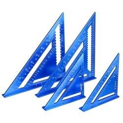 Угловая линейка 7/12 дюйма, Метрическая треугольная измерительная линейка из алюминиевого сплава, скоростная прямоугольная треугольная лин...
