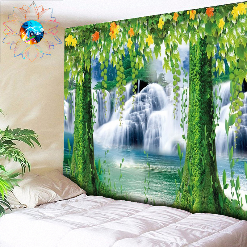 Waterfall Tapestry Tree Wall Hanging Living Room Psychedelic Decoration Boho Decor toalla mandala tapiz pared tela