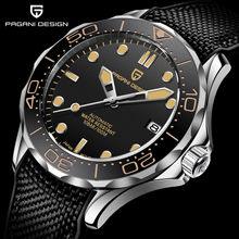 2021 Новый PAGANI DESIGN Для мужчин механические часы Для мужчин автоматического класса люкс Водонепроницаемый сапфир Стекло кожи с резиновой подо...