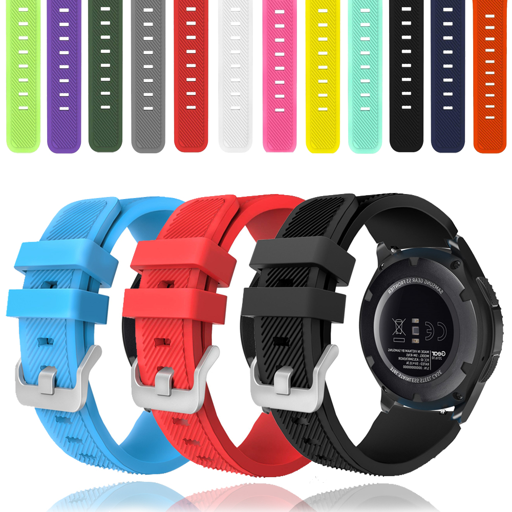Galaxy Watch 46mm Strap For Samsung Gear S3 Frontier Watch Strap Soft Silicone 22mm Watch Band Bracelet Smart Watchband Gear S 3