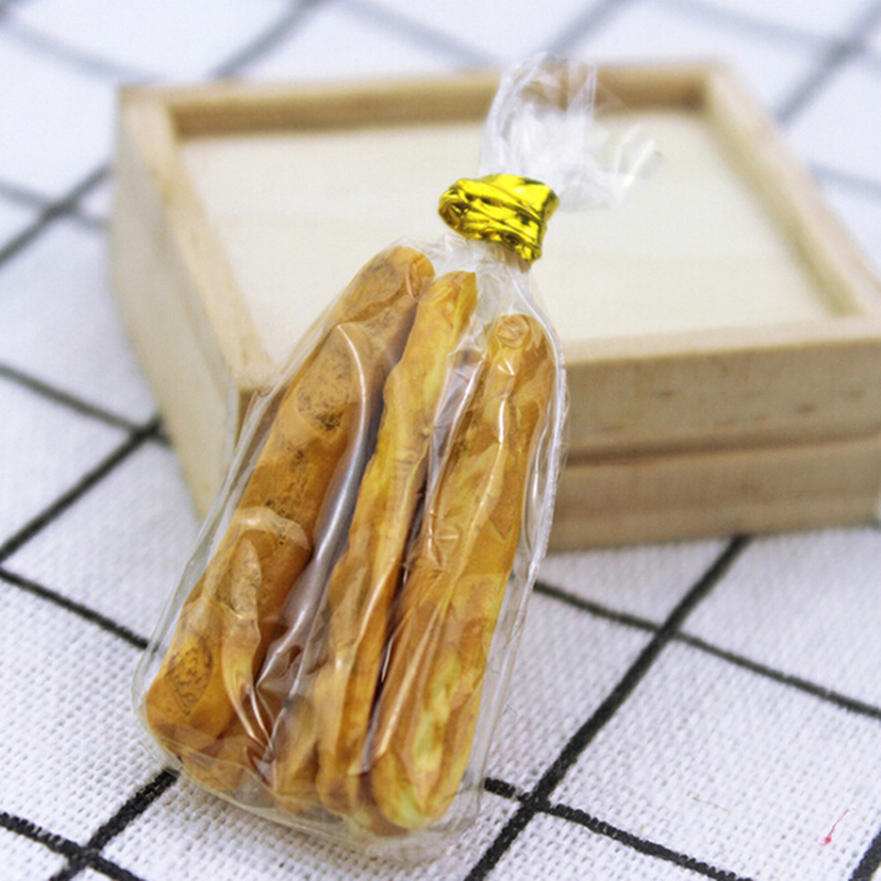 6pcs/lot Fake Croissant Home Craft Mini Food Bread Ornament Miniature Dollhouse Decor Furniture Toys Doll House Accessories