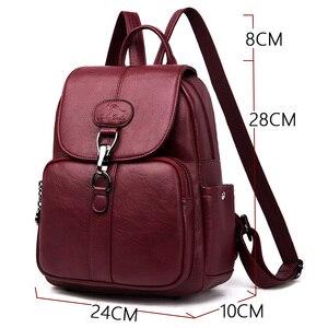 Image 2 - 2019 della copertura di vibrazione zaino Femminile delle donne di Alta qualità borsa in pelle mochila feminina zaino da viaggio delle Donne Sac a Dos Femme sacchetto di scuola