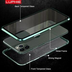 Image 4 - Luphie Enveloppement Complet pour iphone 12 Pro Max mini 11 Xs 9H Verre Trempé Téléphone Magnétique Cas X SE 7 8 Plus Xr Couvercle Magnétique