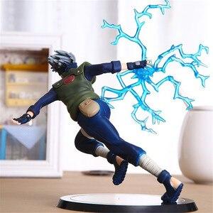 Image 3 - Fmrxk figura de ação colecionável em pvc, figura de ação de 22cm naruto kakashi e sasuke para crianças