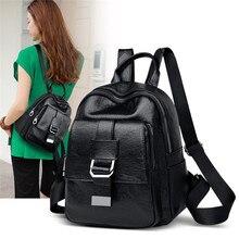 цены Stylish Designer Backpacks Women High Quality PU Leather Female Back Bag for 2019 Ladies rucksack School Bags for Teenage Girls