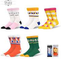 Mathematical geometry Men and Women Dress Cool Colorful Fancy Novelty Funny Casual CoCotton Crew Socks with Crazy Art Patterned