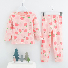 Keelorn Girls Pajama Set Kids Unisex Cartoon Print Top And Pants 2pcs Sleepwear Suit Long Sleeve Children Clothing Set