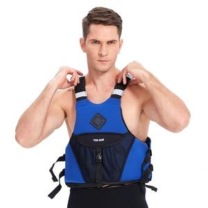 YONSUB Professional Adult Adjustable Neoprene Life Vest Kayaking Boating Swimming Drifting Safety Life Vest(China)