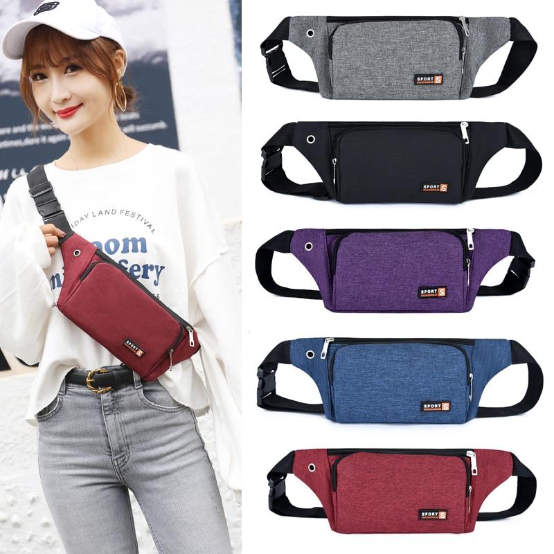 Nylon Waist Packs For Women Laser Chest Phone Pouch Chest Bags Fanny Pack Belt Sling Bags