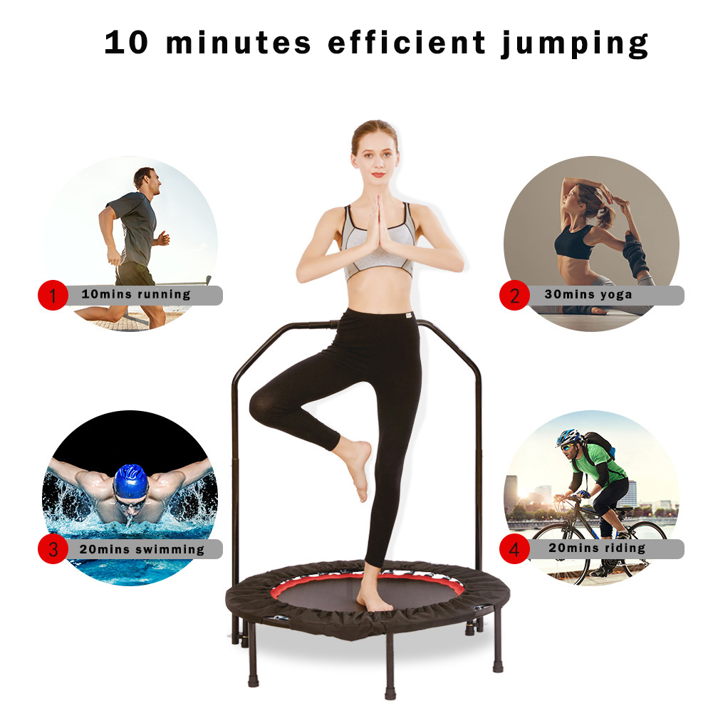 Permalink to Fitness Mini Trampoline Indoor Rebounder Outdoor Exercise Foldadle Trampoline Jumping Bed