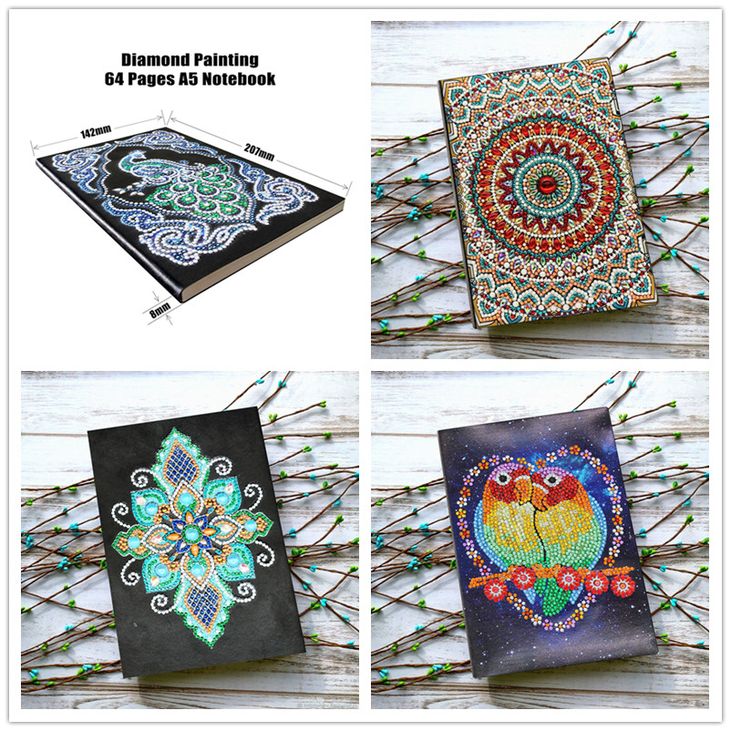 5d Diy Diamond Notebook Special Shaped Painting A5 Diary Book Embroidery Sale Mosaic Pictures Gift