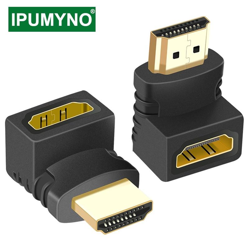 Hdmi-adaptador compatível 90 270 graus masculino direito ao conversor feminino extensor para ps4 hdtv projetor monitor portátil 1.4 conversor