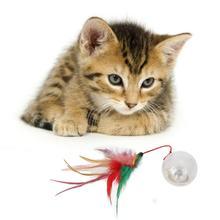 Кота Вибрационный мигающий светильник шнурок перо стакан мяч