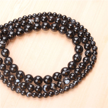 Natural Black Striped Agate 4/6/8/10/12mm  Bead Round Bead Spacer Jewelry Bead Loose Beads For Jewelry Making DIY Bracelet