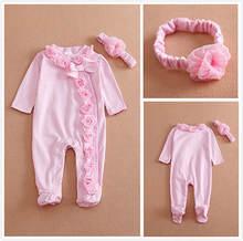 Комбинезон для новорожденных девочек с длинным рукавом комбинезон