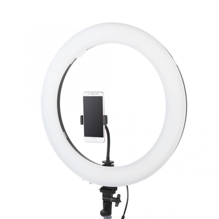 Mobile Phone Flashes Live Broadcast Selfie light Beauty Stepless Dimming 3200-5600K Color Temperature 19Inch LED Ring Fill Light