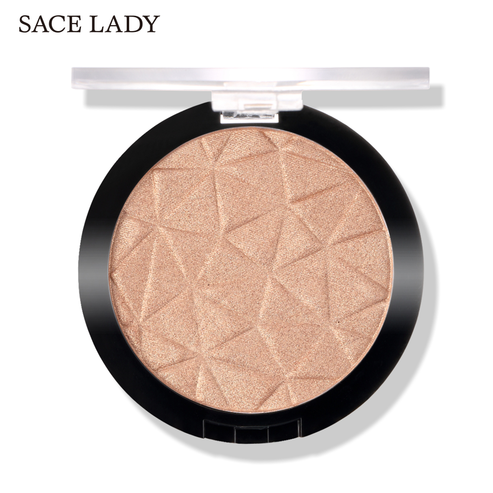 SACE LADY 3 Color Highlighter Facial Glitter Palette Makeup Glow Face Contour Shimmer Powder Illuminator Highlight Cosmetics