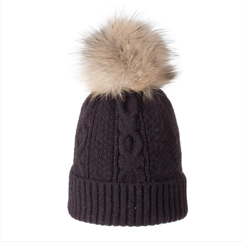 Fashion Winter Hats Caps Women Rough Twist Type Cashmere Knitted Hat Female Girl Thick Warm Beanie Fur Pompom Gorro in Men 39 s Skullies amp Beanies from Apparel Accessories