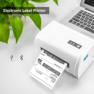 Image 2 - NETUM תרמית תווית מדפסת עם גבוהה באיכות 110mm 4 אינץ A6 תווית ברקוד מדפסת USB יציאת עבודה עם paypal etsy Ebay USPS