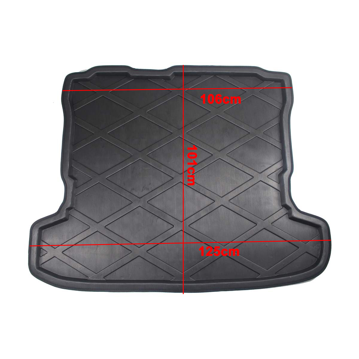 Rear Trunk Cover Carpet For Mitsubishi Pajero V97 Shogun 2007 2008 2009 2010-2018 Cargo Liner Boot Tray Kick Pad Matt Mat Floor